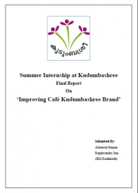 Internship Report (Cafe Kudumbashree)